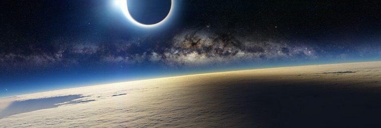 Close-up view of solar eclipse