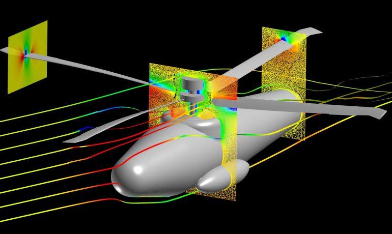 Rotorcraft simulation analysis FUN3D
